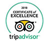 Certificate of Excellence - 2018 TripAdvisor Award